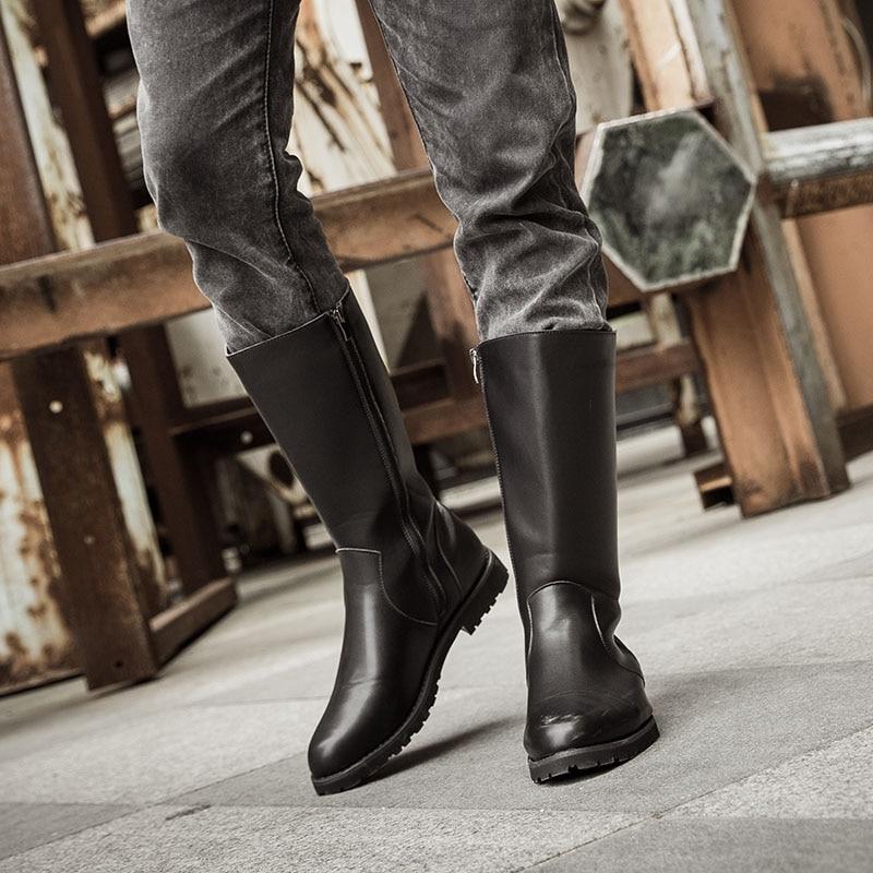 c3aaab22ed3 Misalwa-nuevos-hombres-rodilla-botas-Motocycle-botas-cremallera-negro-botas- de-moda-punta-redonda-37-45.jpg