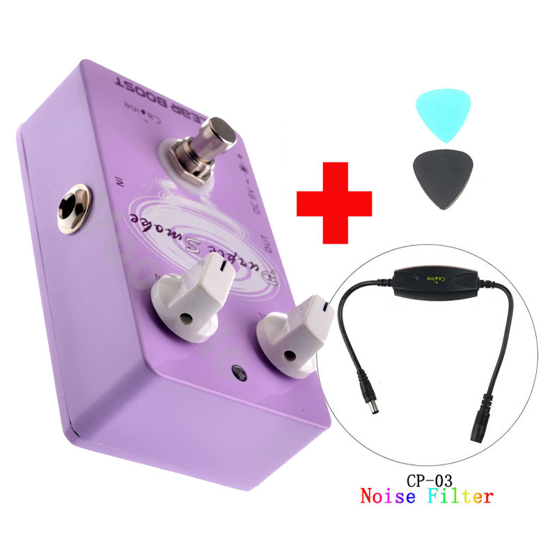 цены Caline CP-22 Clear Boost Guitar Effect Pedal Purple Ture Bypass and Caline CP-03 Noise Filer