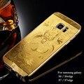 Metal Frame de Alumínio Bumper + dragão Chinês padrão PC Acrílico 2em1 back case para samsung galaxy s6 s6 edge s7 s7edge capa
