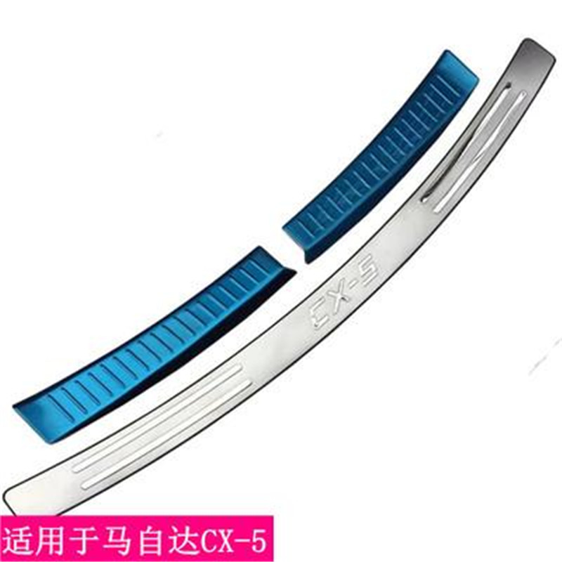 Car styling For <font><b>Mazda</b></font> CX-5 <font><b>CX5</b></font> 2012 2013 2014 2015 <font><b>2016</b></font> Stainless Steel Rear Bumper Protector Sill Trunk Tread Plate Trim image