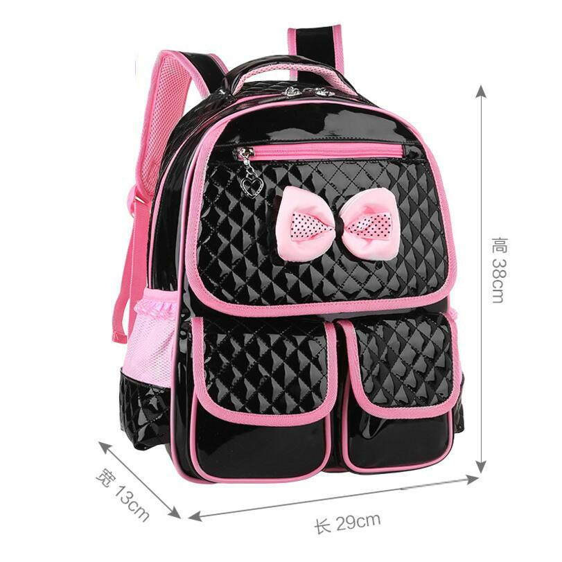 Красивый розовый лук для девочек школьная сумка Комплект Высокое качество нейлон Водонепроницаемый Рюкзак Симпатичные Обувь для девочек р...