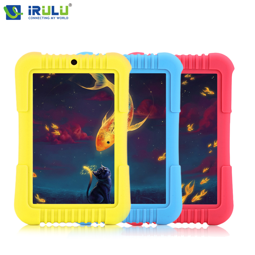 New iRULU Y3 7 Tablet PC IPS Screen 1280 800 for Children Quad Core Dual Cam