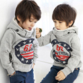 2016 Fashion Cartoon 6 8 Baby Boys Girls Kids Sweater Coat Hoodie Jacket Sweater Pullover Warm Outerwear