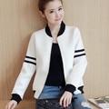 2017 Bomber Jacket Women Coat Chaquetas Casaco Feminino Jaqueta Baseball Veste Femme Black and White Baseball Jackets