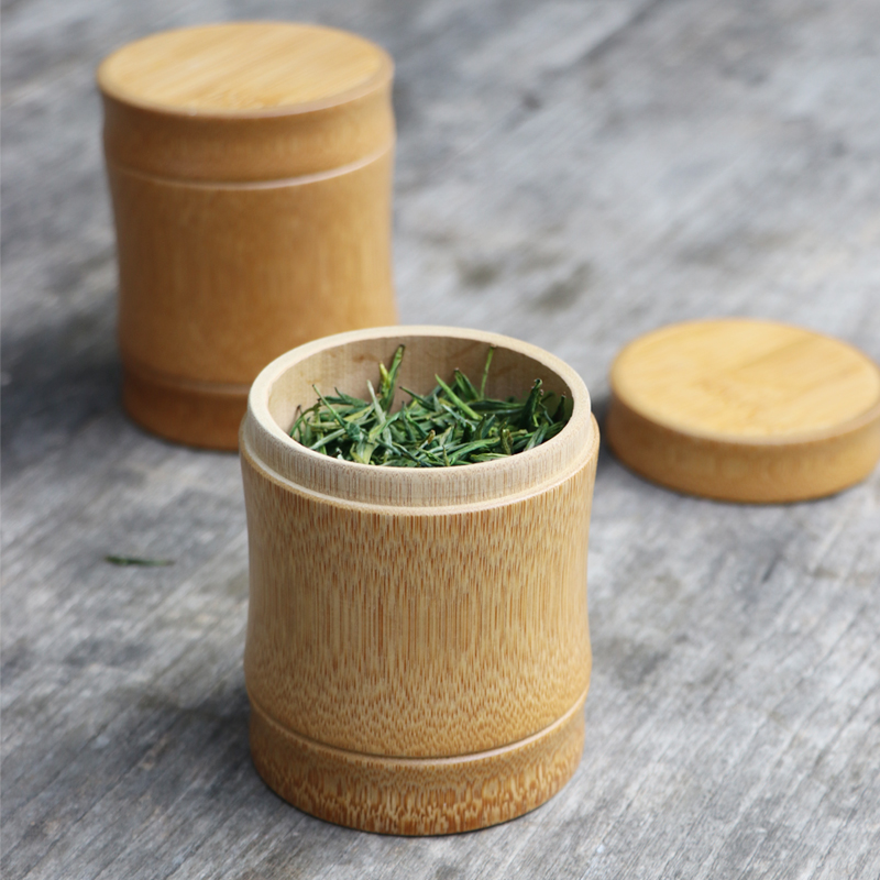 Bamboo Storage Box For Tea Caddy Spices Container For Bulk s