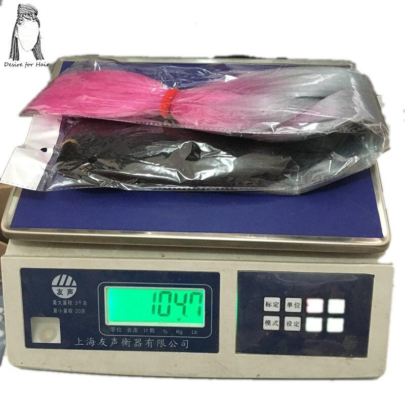 Önskning för hår 10pack per lot 24inch 100g värmebeständig - Syntetiskt hår - Foto 3