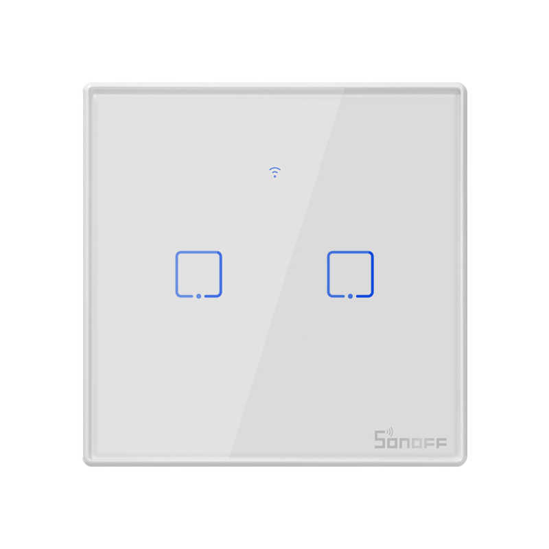Itead Sonoff nowy T2US 120 rozmiar 1/2/3 gang TX 433Mhz RF zdalnie sterowany przełącznik Wifi z obramowaniem współpracuje z Alexa Google Home