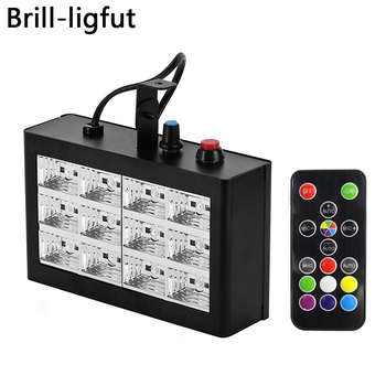 12W 12 LED Stage Light Sound Activated DJ Disco Party Club KTV Strobe Light Festival Wedding Strobe Flash Stage Lighting Effects high quality mini 36x led white flash lighting strobe dj strobe light stage led flash free shipping