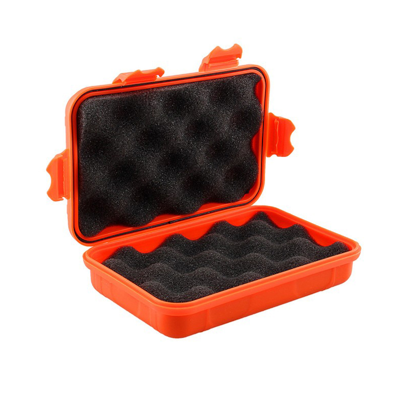 Waterproof Box Phone Case Shockproof Airtight Survival Case Container Storage Carry Box With Foam Lining Free Shipping