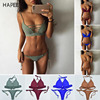 2017 Bikini Sets Women Sexy Lace Up Multi Strings Brazilian Bathing Suits Swim Wear Thong Bikini