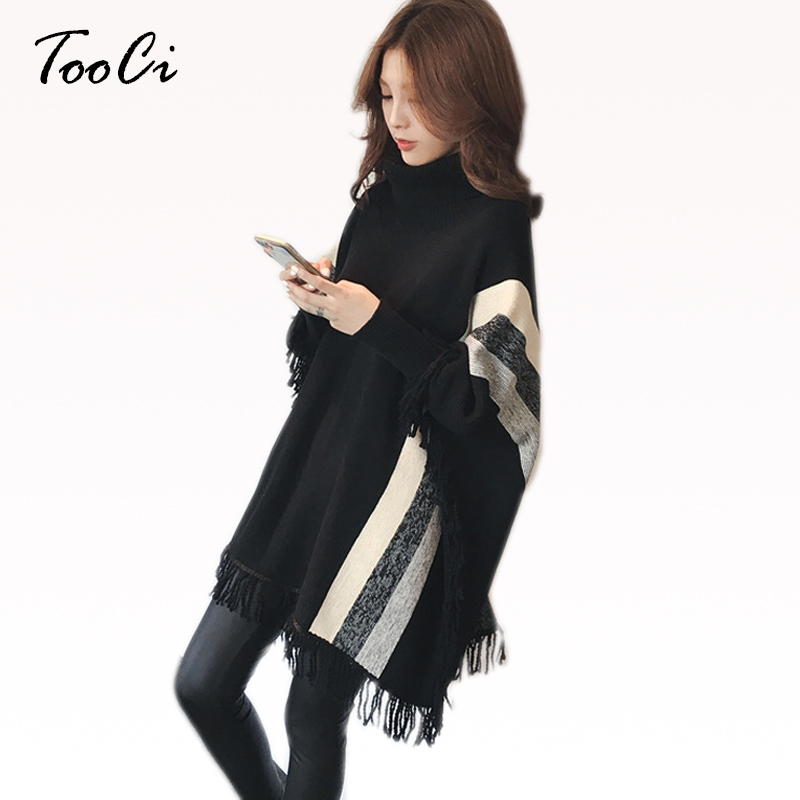 Femmes Capes et Ponchoes automne femmes mode rose gland pulls grande taille femmes tricoté pull chaud hiver pull
