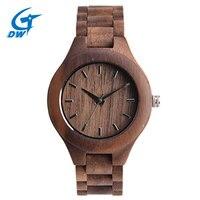 Round Dial Analog Luxury Watch For Women Newest Quartz Watch Maple Walnut Wood Wrist Watches For