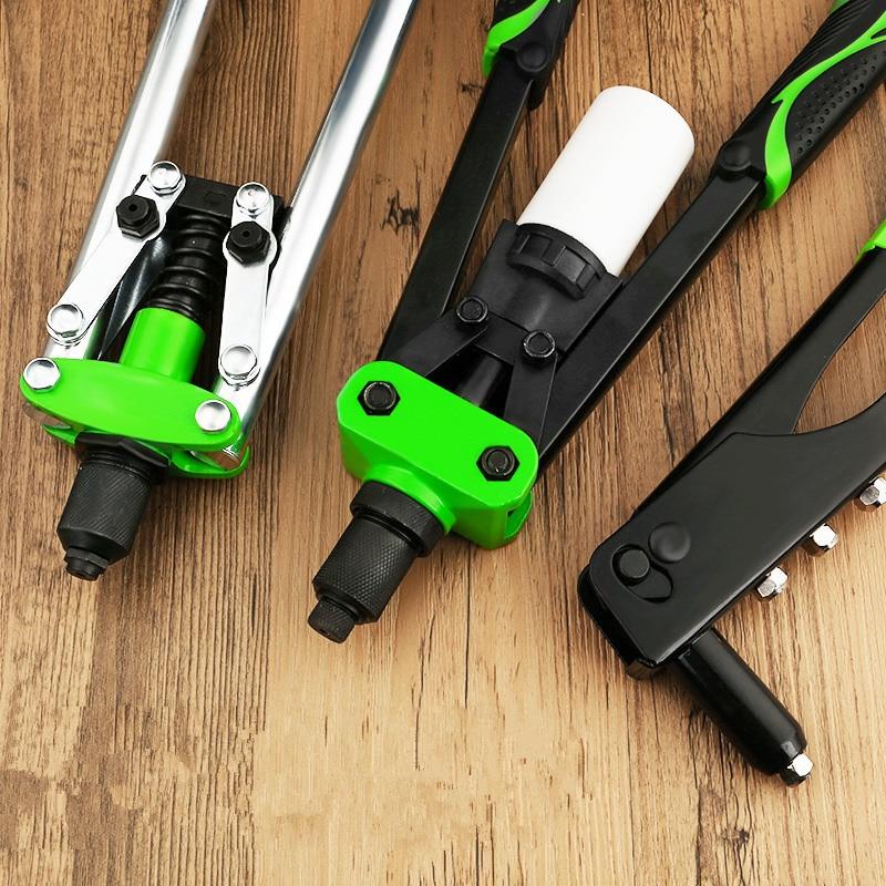 Hand Riveters Gun Labor Saving Blind Rivet Guns Household Repair Riveting Tool Support Rivet Aluminum/Stainless Steel/Steel Nail