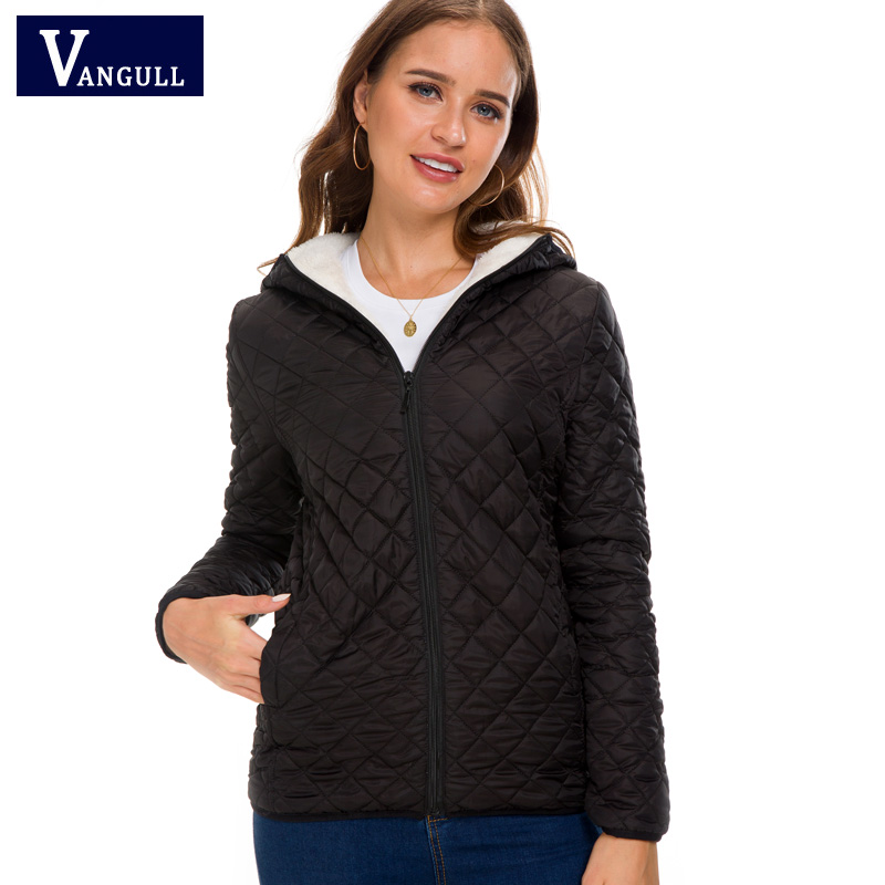Vangull winter   Basic     Jacket   Female Coat Women Warm Down Cotton Parkas 2018 new Brand Autumn Fashion Long sleeve hooded Outwear