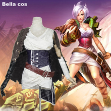 Custom size LOL Riven cosplay costume skirt Female sexy Halloween Carnival Anime