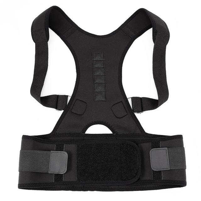 Ajustable Magnética Corrector de Postura Ortopédico Cinturón Corsé Back Support Brace Chaleco Negro Blanco Del Corsé Volver Apoyo