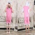 Hello Kitty rosa verano para adultos dibujos animados de algodón Animal Onesies pijamas sudaderas con capucha del mono trajes de Cosplay para adultos
