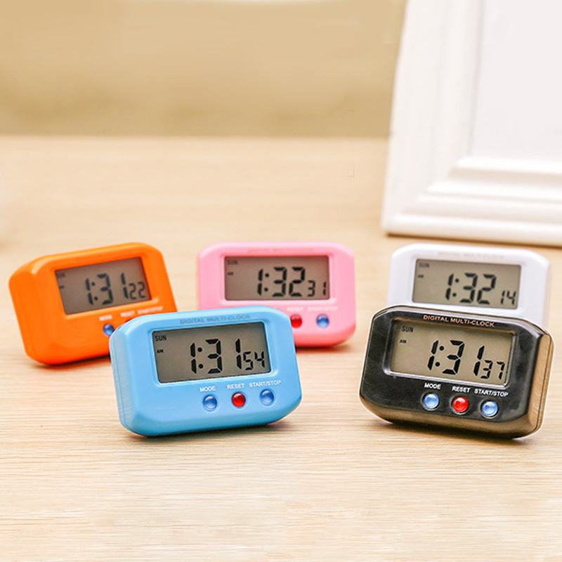 NEW Mini Portable With Snooze Backlight Studen Desk Decors Digital Electronic Travel LCD Clock Pocket Sized Alarm Clocks