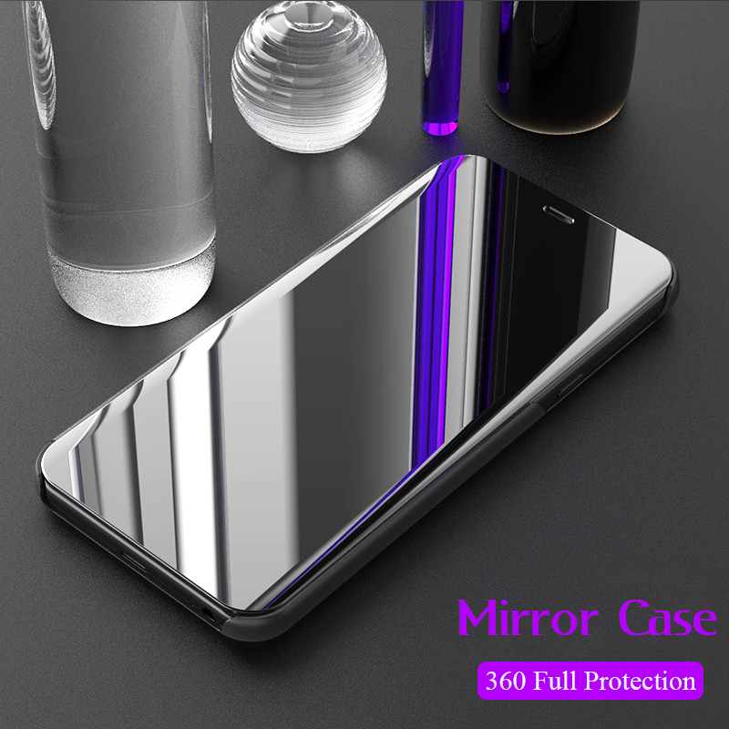 Mirror Touch Flip Case For Xiaomi Mix 3 2 F1 8 8se 8pro 8lite 5x 6x a1 a2 Stand 360 Full Cover For Redmi S2 6A 5 Note 4X 5 6 Pro