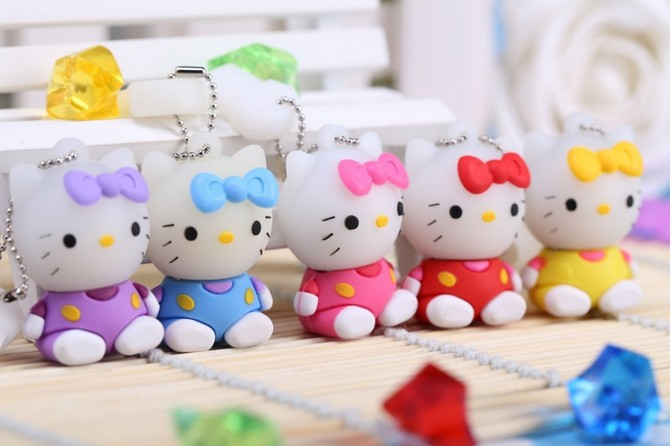 hot selling usb flash drive cartoon lovely KT cat sit Memory Stick 4GB 8GB 16GB 32GB USB Flash Drive creative Pendrive N13#21