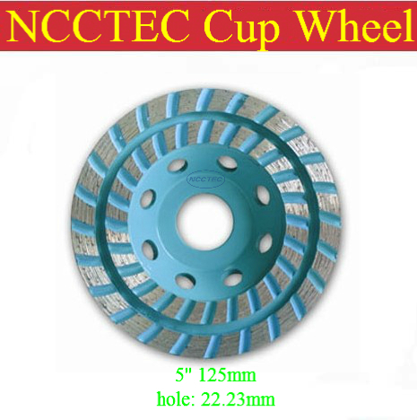 5'' NCCTEC diamond grinding CUP wheel FREE shipping | 125mm Concrete grinding disc  | double row head disk бра cl913311 citilux