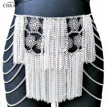 Chran flor cadena Mini falda fiesta Vestido de playa cota cubierta Ibiza  arnés collar EDM Festival de joyería CRS224 bc21b39c4142