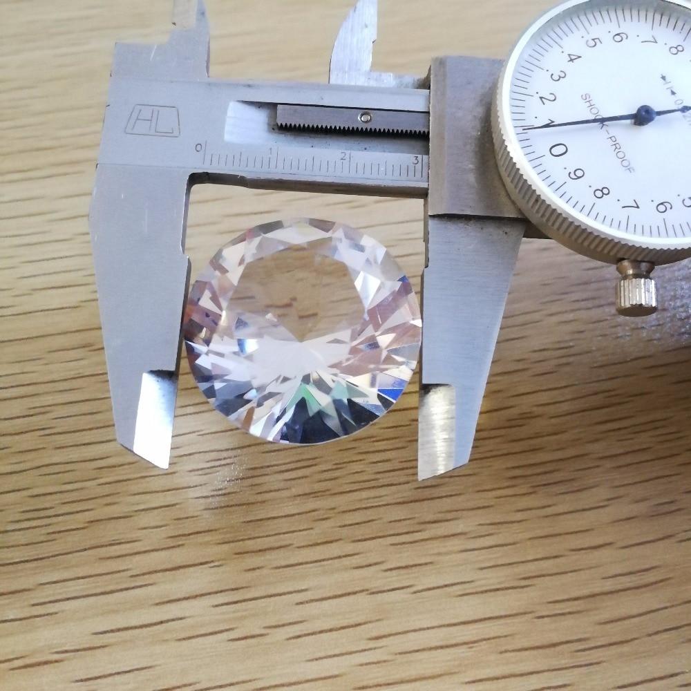 Perlas de vidrio verde transparente de 2-Cut 10g 25g 50g 100g