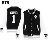 BTS Kpop Lay Jacket Casual Harajuku Korean Tracksuit New Fashion Baekhyun 1 Suho Winter Coats And