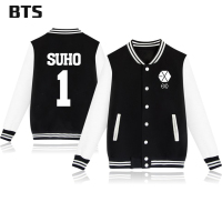 BTS Kpop Lay Jacket Casual Harajuku Korean Tracksuit New Fashion Baekhyun 1 Suho Winter Coats And