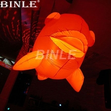 Fancy 1.5m large hanging led inflatable clown fish balloon for indoor outdoor party decoration