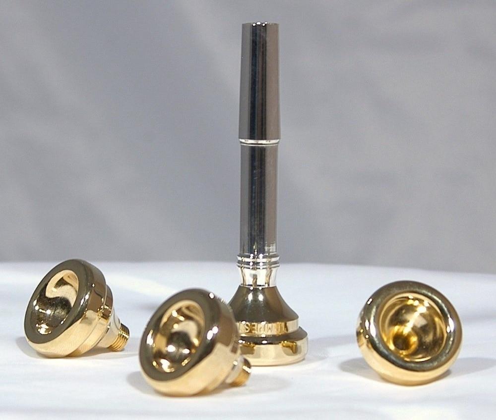 все цены на Bach Trumpet Accessories 1-1/2C 7C 5C 3C Size Trumpet Mouthpiece Copper Gold 1 set With box Musical instrument accessories