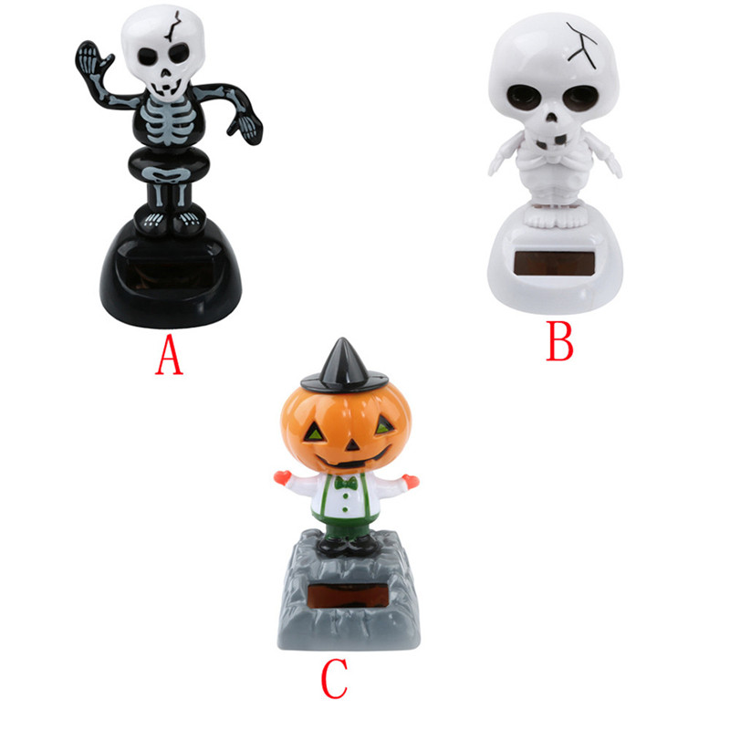 HOT car accessories Solar Powered Dancing Halloween Swinging Animated Bobble Dancer Toy Car Decor Drop shipping 18 Sept 21