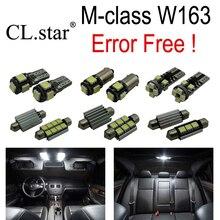 12 шт. Ошибка Бесплатный СВЕТОДИОДНЫЕ Лампы Интерьер Свет Набор Для Mercedes Mercedes-Benz m-класса W163 ML320 ML350 ML430 ML500 ML55 AMG 98-05