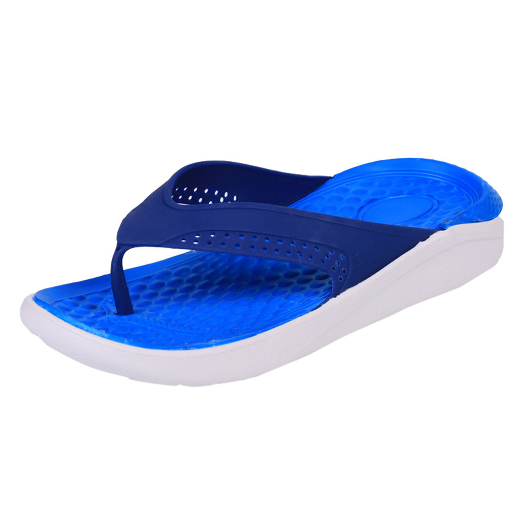 SAGACE Summer comfortable beach shoes men's casual slippers solid color non-slip fashion flip-flops high quality new listing(China)