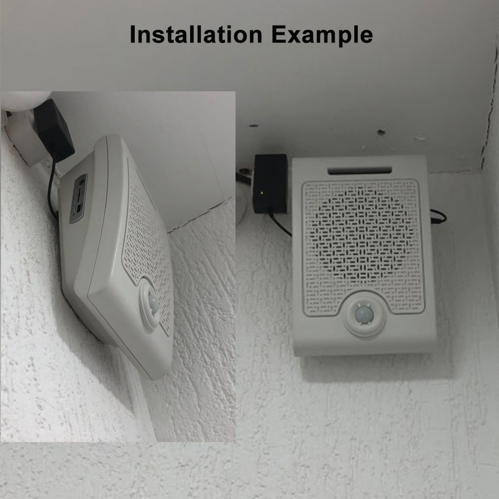 Wall Mount High Power PIR Motion Sensor Button Activated Sound Amplifier Speaker for Safety Attention Blind Guide Voice Reminder