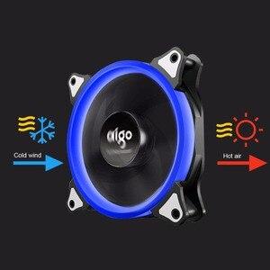 Image 2 - Aigo 120mm ventilador caso do pc ventilador ajustável aurora rgb led computador ventilador de refrigeração 12v mudo ventilador caso para computador