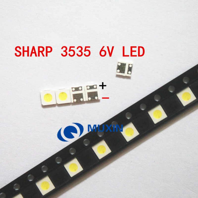 200 Pcs/lot untuk TV LED SHARP Aplikasi Lampu Latar LCD untuk TV Lampu Belakang LED 1.2W 6V 3535 3537 Keren putih GM5F20BH20A