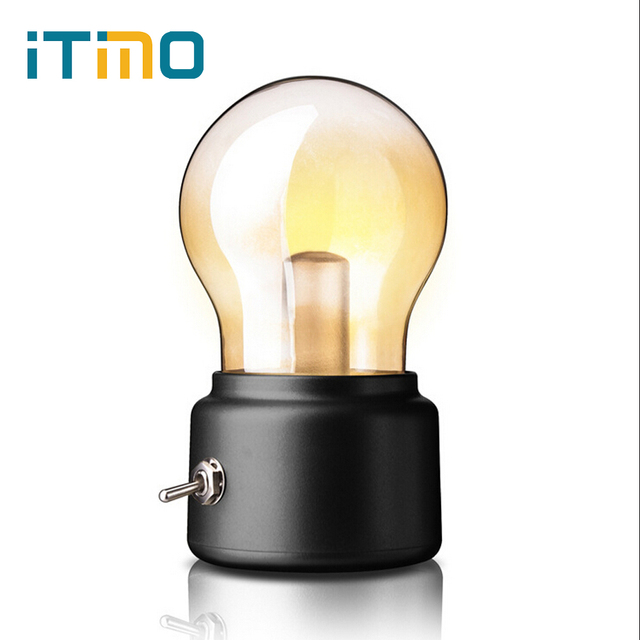 edison table lamp vintage home lighting. ITimo Retro LED Vintage Glass Bulb Lamps Table Lamp USB Rechargeable Edison Desk Light Home Lighting B