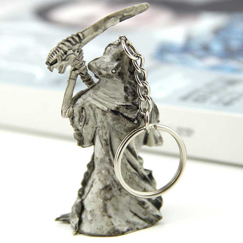 Ghost 3D Grim Reaper Skulls Devils Skeleton Sickle Car Pendant Key Chain Ring