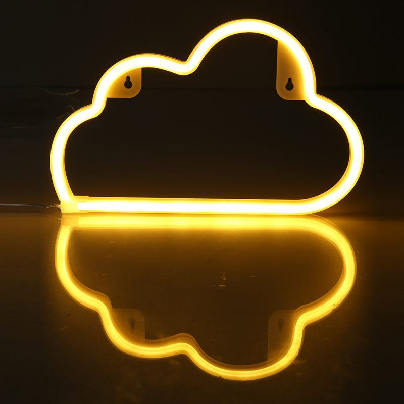 USB Battery Light Neon Night Light Cloud Shaped LED Red Lamp For Baby Bedroom Decoration Wedding Party Decor Gift led new monkey foil balloon auto seal reuse party wedding decor inflatable gift for children