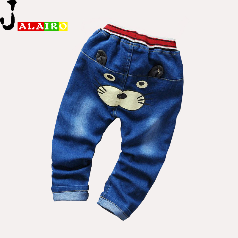 2016 New Cartoon Fashion Character Children Kids Baby Boy Girls Pants Baby Girl Boys Jeans Pants Child Trousers Girls Jeans