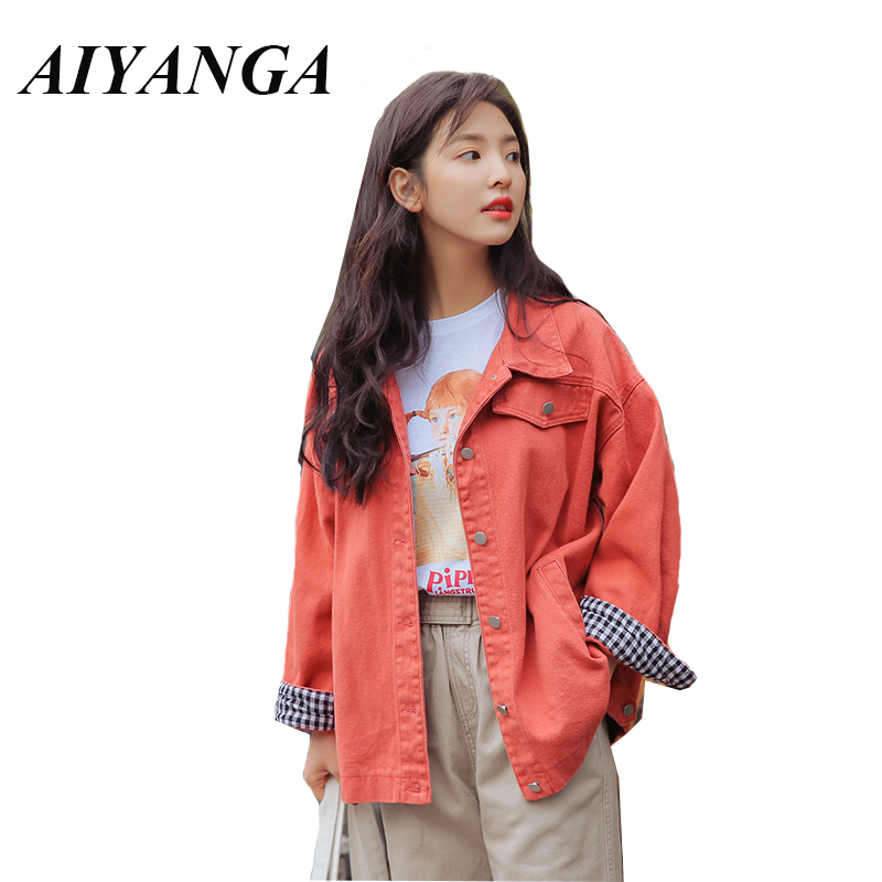 New 2019 Women Casual Cotton   Jackets   Single-breasted Turn-down Collar Long Sleeve Female   Basic     Jackets   Coats Oversize Outwear