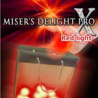 Misers Delight Pro X de Mark Mason (luz roja) ilusión mágica para los mágicos, trucos de magia profesionales, accesorios de mago