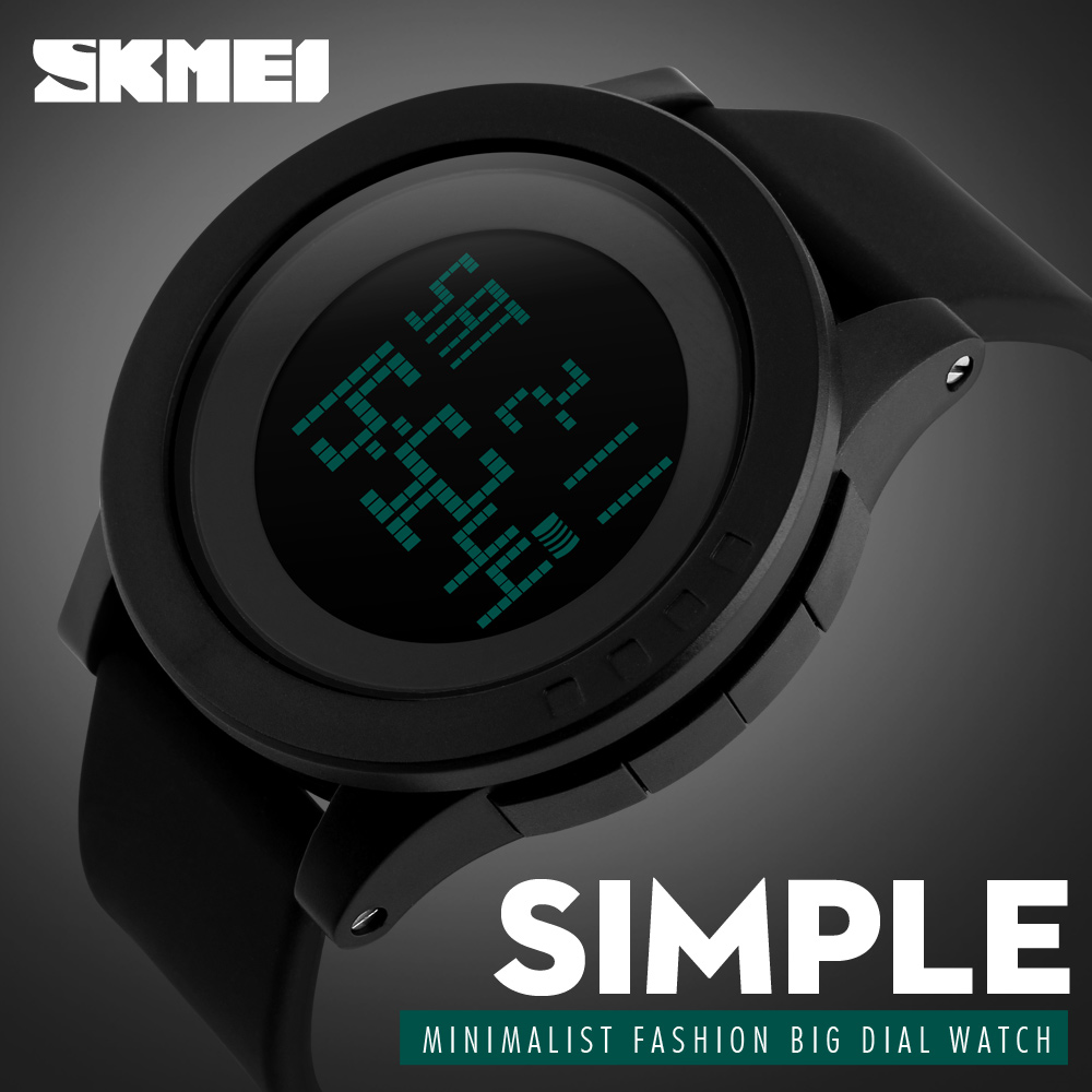 Fashion Casual Waterproof Swim Sport Watch Men Women LED Electronic Wristwatch  SKMEI Brand Digital Watches Men Clock 18dc03550b