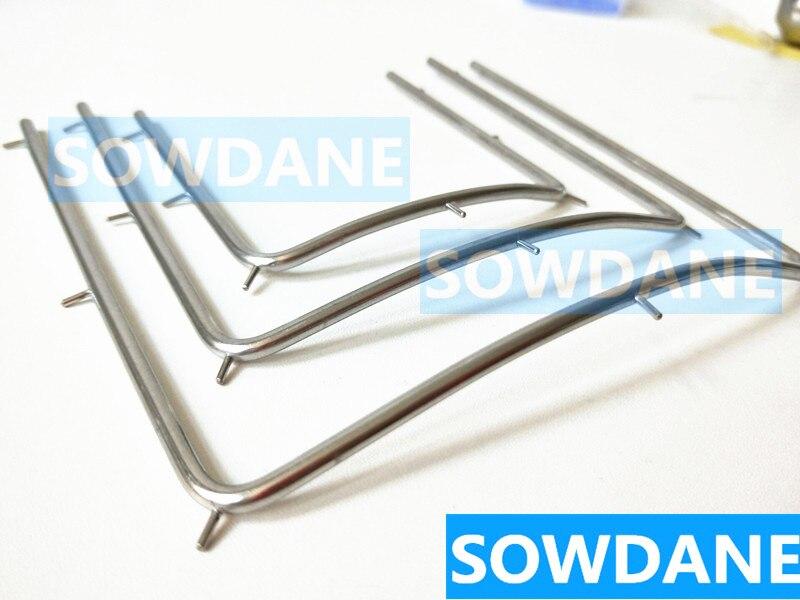 Dental Teeth Whitening Mouth Opener  Rubber Dam Latex Frame Tool  Stainless Steel 10CM/12CM/7.3CM For Selection