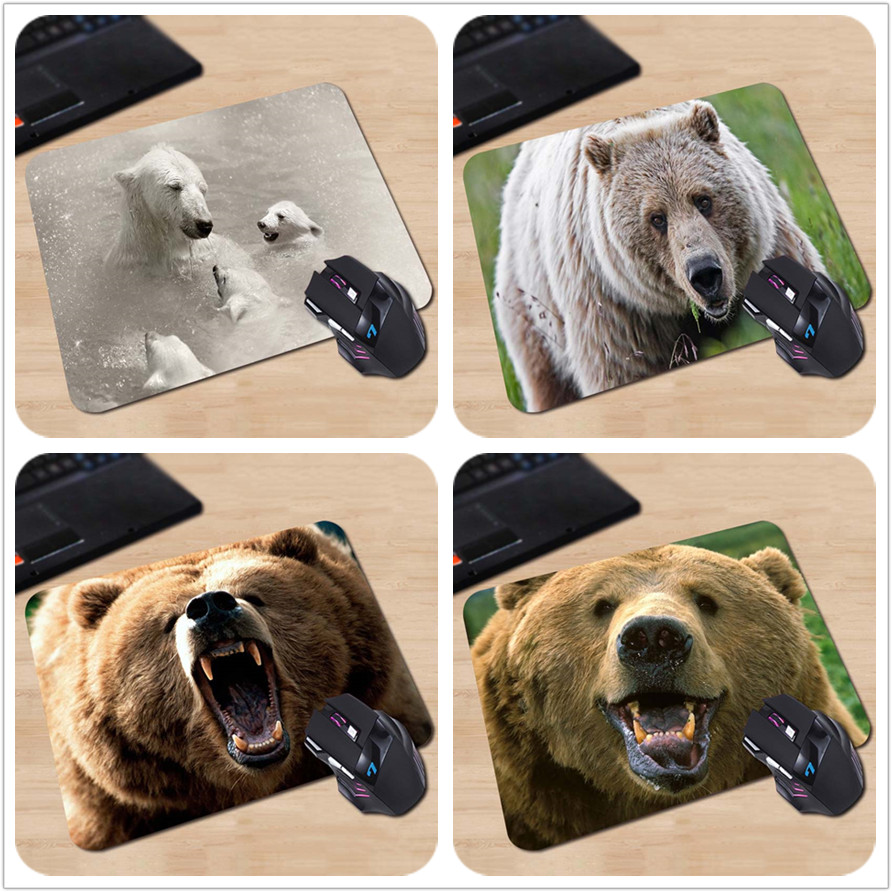 Babaite High Quality Swimming Polar Bears Customized Mouse Pad White and Cute Computer Notebook Laptop Gaming Mice Mat Pad