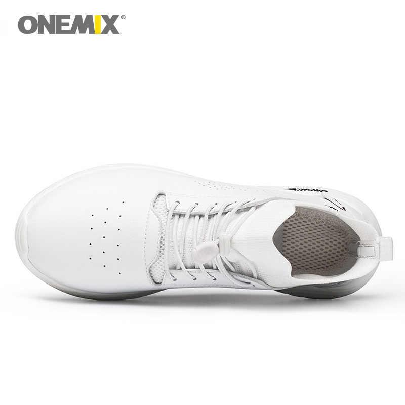 Onemix ผู้หญิงวิ่งรองเท้าผู้หญิงหนัง Trail วิ่งรองเท้าผ้าใบกีฬากลางแจ้งถุงเท้า Gym Trainers