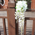 Romantic Drop Wedding Bouquet Waterfall Cheap Artificial Wedding Bouquets For Brides Bridesmaid Hand Holding Flower 2016