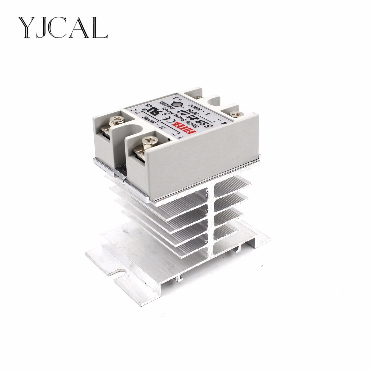 цена на Mini Single Phase Solid State Relay SSR Aluminum Heat Sink Dissipation Radiator Newest Rail Mount For 10A-40A Relay