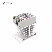 Mini Single Phase Solid State Relay SSR Aluminum Heat Sink Dissipation Radiator Newest Rail Mount For 10A-40A